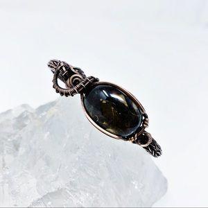 Black Obsidian Wire Wrapped Bracelet